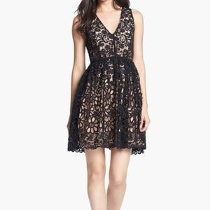 French Connection Lace Dress in Black